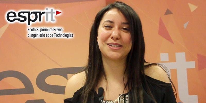 En vidéo : L'étudiante Yessmine Abdelnadher parle de la participation d'Esprit au forum de l'ATUGE