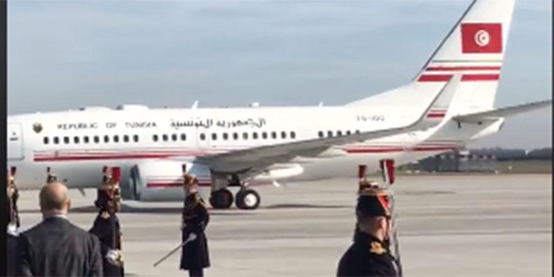 بالفيديو، سفير فرنسا بتونس يوثق لحظة وصول طائرة يوسف الشاهد إلى فرنسا