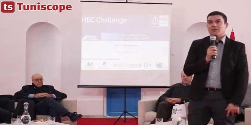 Azzam SOUALMIA de SWIVR à la 15ème édition HEC Challenge