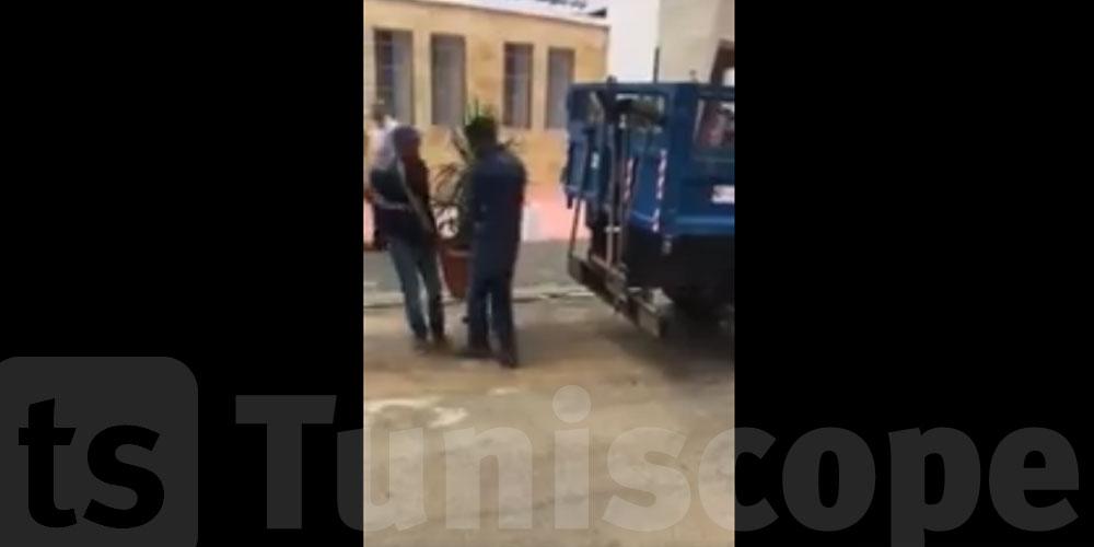 بالفيديو: سوسة...بعد ما خرج رئيس الحكومة و الوالية من المدرسة وانتهى التدشين...البلدية تجمع الزهور