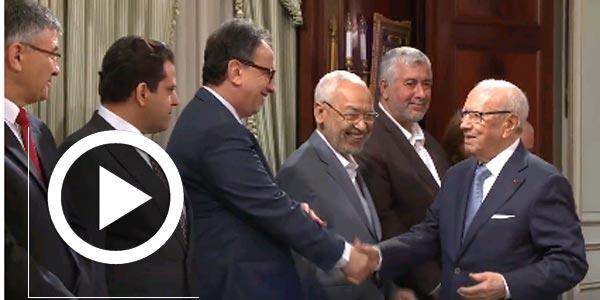En vidéo : Béji Caïd Essebsi préside une réunion autour du gouvernement d'union nationale