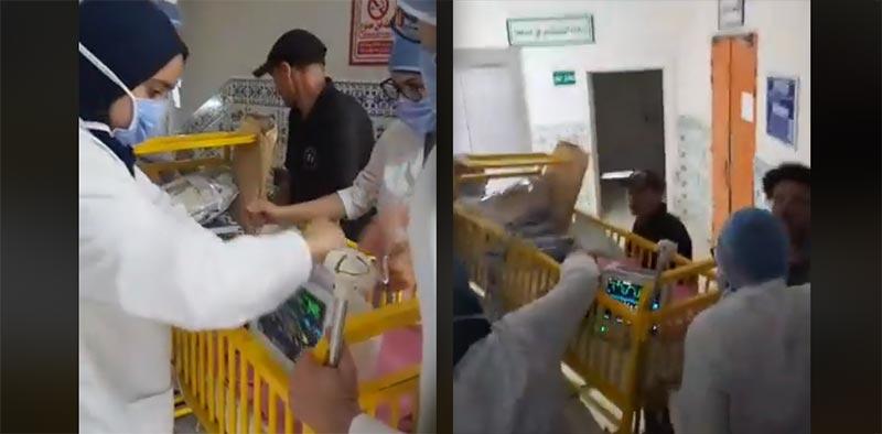 فظيع: في غياب التجهيزات.. رضيع في مستشفى باب سعدون يُنقل بطريقة بدائية