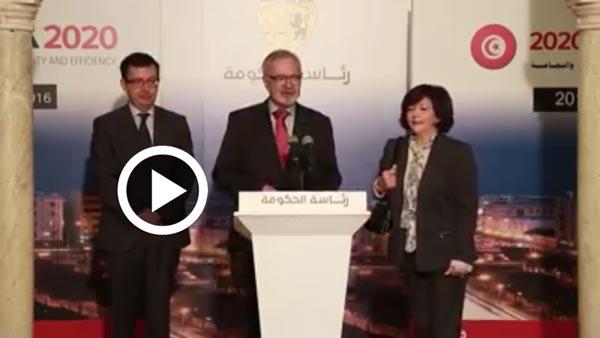 En vidéo : Werner Hoyer, président de la BEI annonce une convention de financement avec la Tunisie de 400 millions d'euros