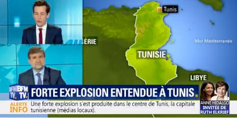 Couverture BFM TV de l'explosion de Tunis