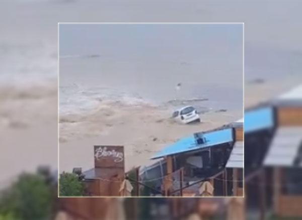 بالفيديو : فيضان وادي بليبان بسوسة