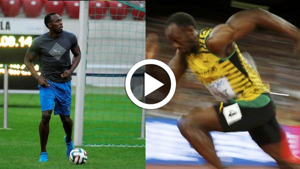 En vidéo : Quand Usain Bolt, l'homme le plus rapide du monde joue au football
