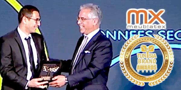 MEUBLATEX remporte un Tunisia Brand Award 2017