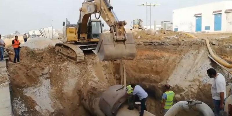 بالفيديو : تقدّم أشغال إصلاح القناة الرئيسية لجلب المياه المزوّدة للضاحية الجنوبية