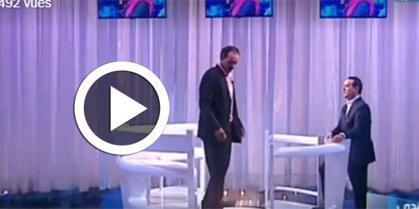 بالفيديو علاء الشابي يطرد ضيفه بعد أن اصر على التخلي عن ابنه