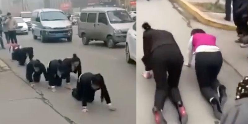 En Chine, Des employés contraints de ramper pour ne pas avoir atteint leurs objectifs