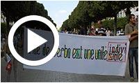 Manifestation des habitants de Djerba à l'Avenue