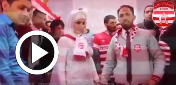En vidéo : Pour son mariage, il organise une fête 100 % clubiste