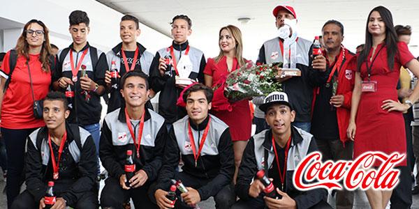 Retour des champions de la Copa Coca-Cola l'Equipe Oued Elil