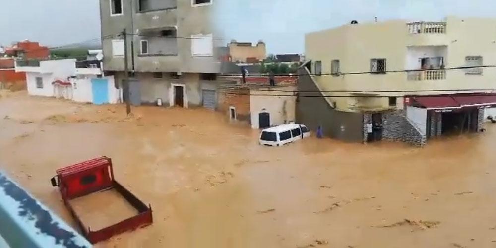 فيديو: أمطار طوفانية في بو مرداس المهدية