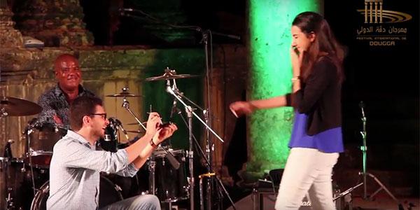 Demande en Mariage sur la scène du Festival de Dougga 2016 avec SOUAD MASSI