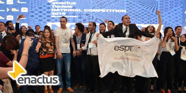L'équipe ESPRIT championne de la compétition nationale Enactus 2016