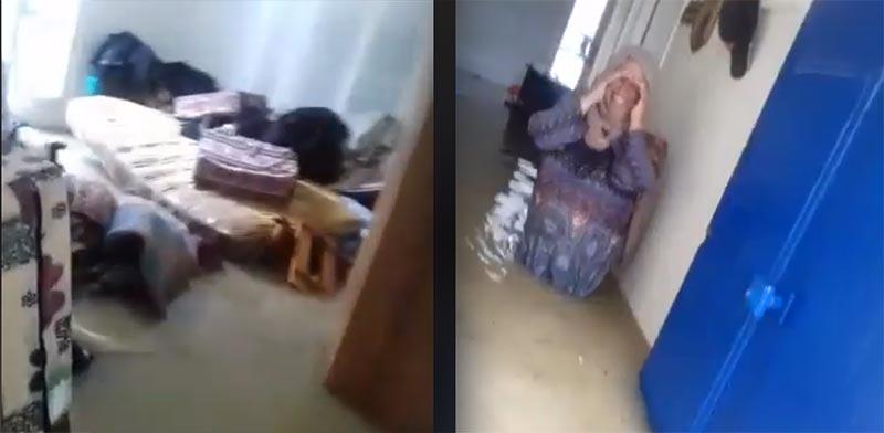 بالفيديو: مواطنة تستغيث وتناشد الحماية المدنية بعد غرق منزلها بمياه الفيضانات