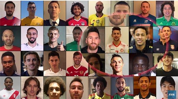 بالفيديو، يوسف المساكني ضمن أبرز نجوم كرة القدم لتهنئة المنتخبات المأهَّلة إلى مونديال روسيا