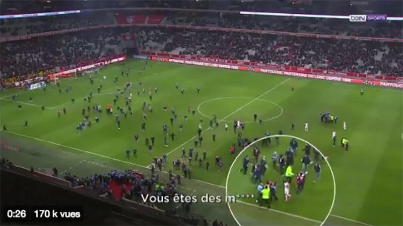 Envahissement de terrain, joueurs frappés et bagarre à Lille
