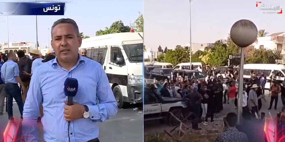 وليد عبد الله: الغنوشي في شبه اعتصام أمام مقر البرلمان مع نواب من النهضة