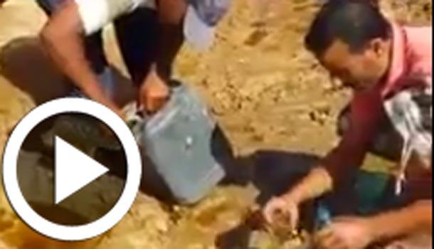 En vidéo : Un camion d'huile d'olive se renverse à Ksar Hellal et les gens se précipitent pour le butin