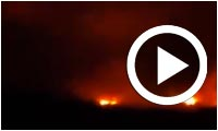 Les images impressionnates de l'incendie à Tabarka