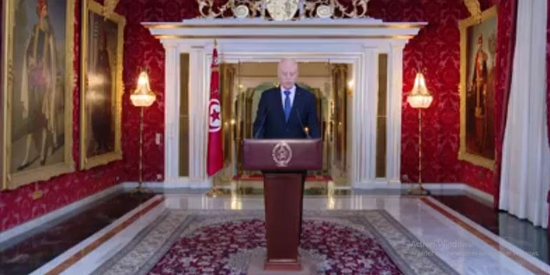 بالفيديو: كلمة رئيس الجمهورية إلى الشعب التونسي بمناسبة عيد الفطر
