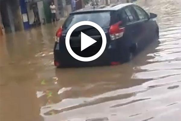 في قلب العاصمة، منطقة لافايات تغرق إثر نزول الأمطار