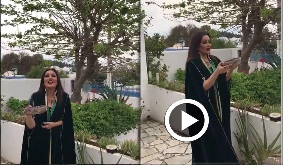بالفيديو: لطيفة العرفاوي في دعاء لتونس ''بالبخور''