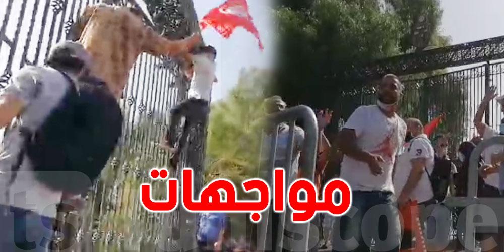 فيديو مباشر..محاولة إقتحام المجلس بالقوة ورشق بالحجارة