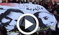 Mobilisation de solidarité avec Soufiene Chourabi et Nedhir Ktari, organisée par le SNJT