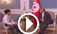 بالفيديو : رئيس الجمهورية يلتقي بالطفل الفلسطيني محمد قريقع