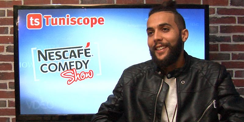 بالفيديو: محمد الغضباني الفائز بالمرتبة الثانية في ''نسكافيه كوميدي شو'' يروي قصته مع المسرح