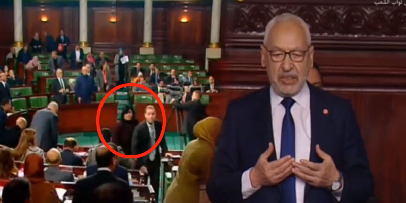 فيديو : عبير موسي وأعضاء حزبها ينسحبون من المجلس أثناء قراءة الفاتحة على شهداء الثورة