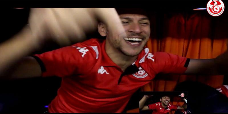 بالفيديو: كواليس إحتفال لاعبي المنتخب الوطني بالترشح إلى الدور نصف النهائي