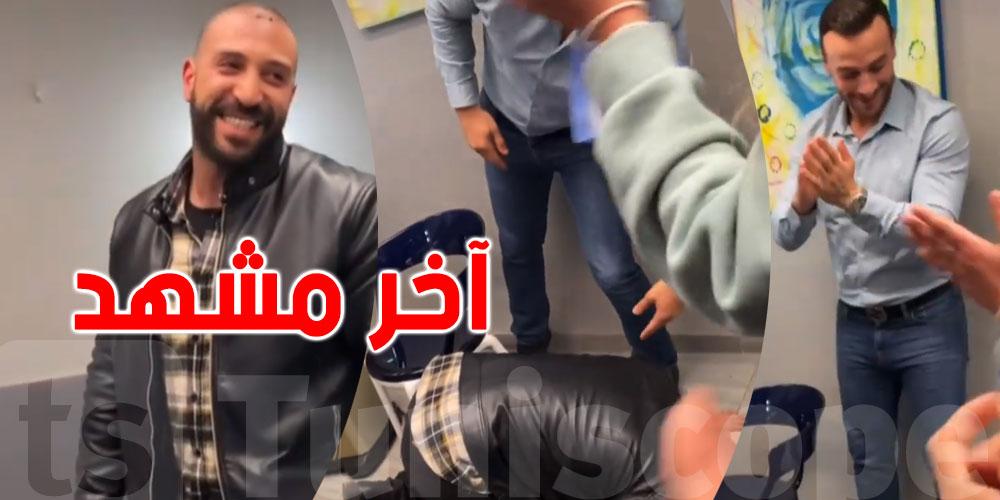 بالفيديو.. نضال السعدي يسجد باكيا بعد تصوير آخر مشهد له في ''الفوندو''