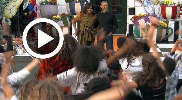 En vidéo : Le remake de Thriller à la maison blanche devant Obama