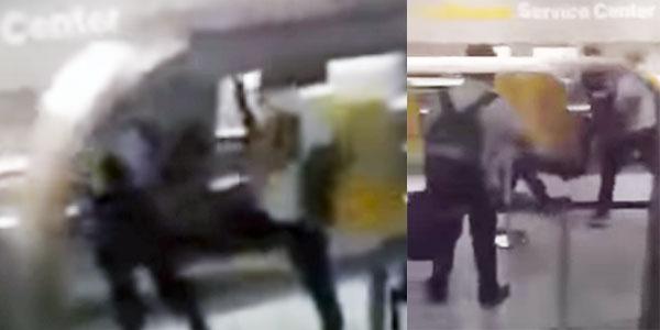بالفيديو : تونسي في مطار في ألمانيا يعنف شرطيان