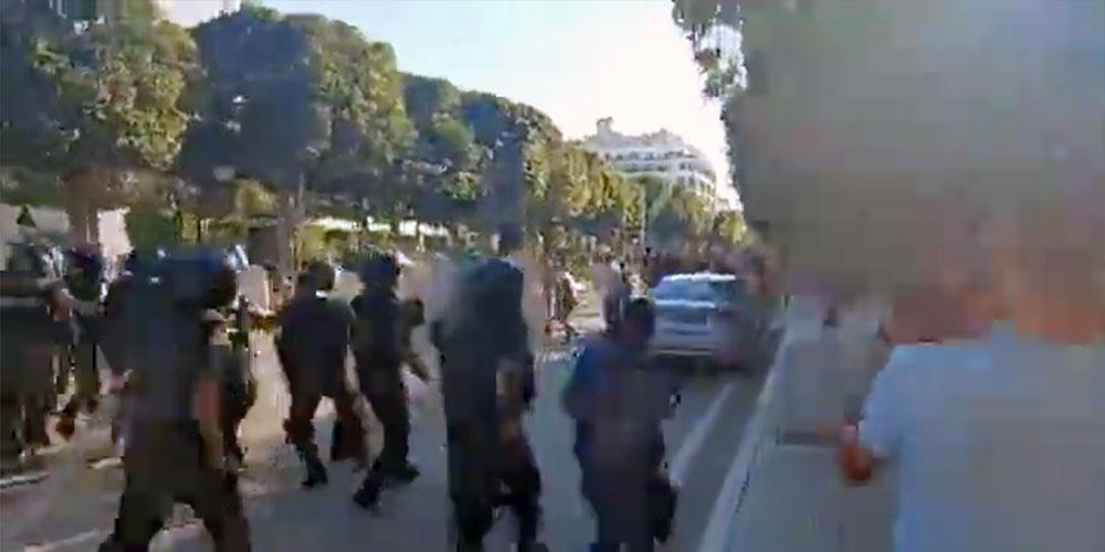 مواجهات عنيفة في شارع الحبيب بورقيبة الآن