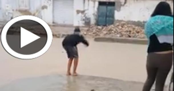 En vidéo : Quand il pleut, les Tunisiens savent en profiter