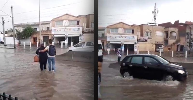 بالفيديو: أمطار طوفانية تغمر العاصمة