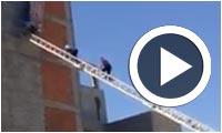 En vidéo : Sauvetage d'un ouvrier de chantier à Sousse