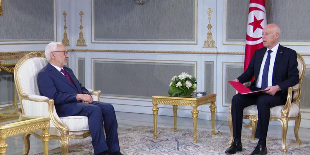 بالفيديو، الغنوشي و نائبيه يتلقون رئيس الجمهورية حول تعطل أعمال مجلس نواب الشعب