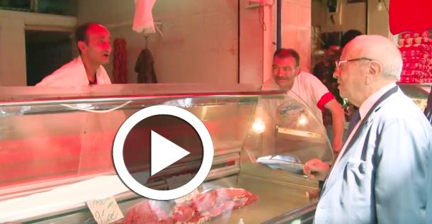 En vidéo : La visite surprise de Béji Caïd Essebsi à Beb El Falla et Sidi El Bachir
