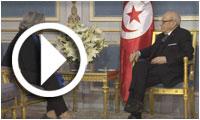 بالفيديو: لقاء رئيس الجمهورية ببسمة الخلفاوي