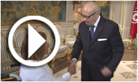 بالفيديو : السّبسي يستقبل بقصر قرطاج رياضيين ورياضيّات تألقوا في المحافل الإقليمية والدولية خلال 2015