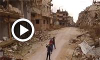 Vidéo : En Syrie, les rues dévastées de Homs filmées par un drone russe