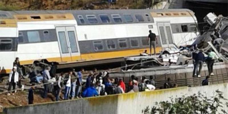 بالفيديو : إنقلاب قطار في المغرب بين الرباط والقنيطرة