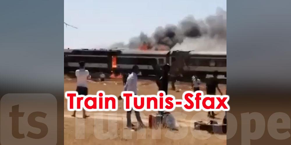 Un incendie se déclare dans le train Tunis-Sfax