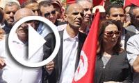 En vidéo : Manifestation de l'UGTT contre le terrorisme